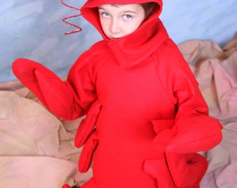Lobster Costume childrens size4 thru 10