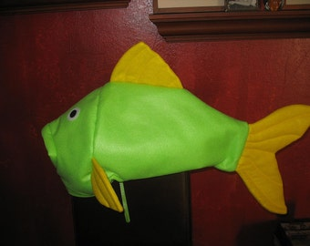 Green & Yellow fish costume- one size fits all
