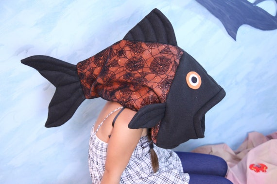 Halloween fish costume one size fits all for Fish head costume