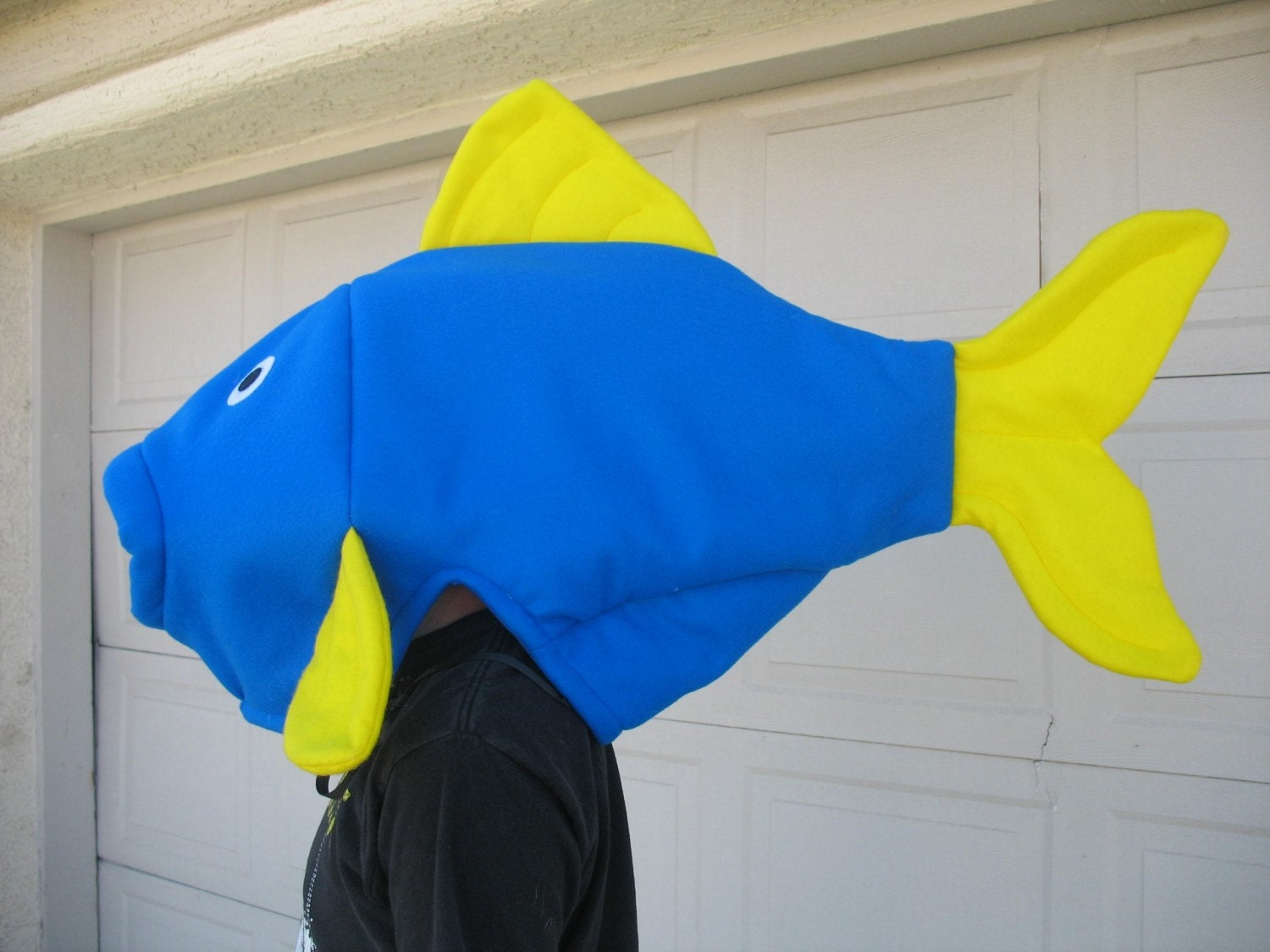Blue fish costume one size for Fish costume adult