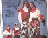 "Costume Pirate & Sea Wench sewing pattern, McCalls 8437 Sewing Pattern Size 7 chest 26"" boy or girls, uncut"