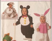 COSTUME INFANT Bunny Penguin  Dragon Puppy Dalmation  Butterick 3050 S M L Xl babies, infants sewing pattern playtime costume pattern