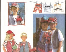 Children Vest Top Cap HAT crab starfish lobster creatures sewing pattern Simplicity 9635 CHILDREN Sewing Pattern uncut sz 3,4,5,6