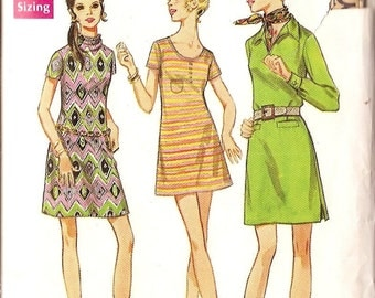 """Misses size 10 dress sewing pattern one piece pullover A line dress Butterick 5697 bust 32 1/2"""""""
