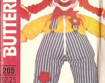 """Sewing Pattern LEARNING  DOLL stuffed 24"""" tall,  clothing shoes Butterick 205"""