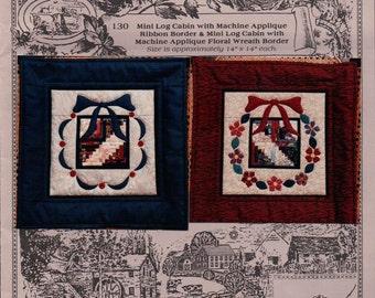 Mini LOG CABIN 14 x 14 Holiday Decoration sewing pattern unused