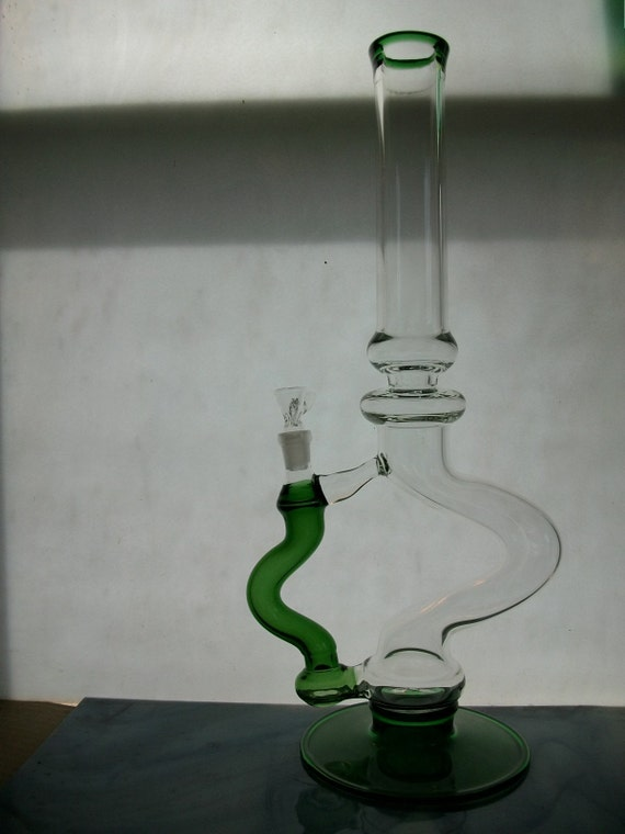 simple glass tubes natrual perk green