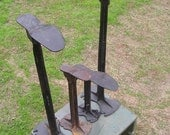 Cobbler Shoe Stands and Molds Lot of 4 Old Crusty Rusty Cast Iron Early 1900s Found Objects Barn Find Findings Anthropologie Look