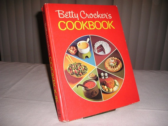Cookbook Red Checkered Cover : Betty crocker s cookbook red pie cover hardback