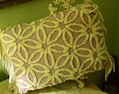 Cottage Style Purple Pillow made with a Vintage chenille