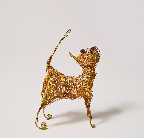Yellow Wire Wrapped Cat