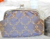 French Blue Silk Clutch Purse