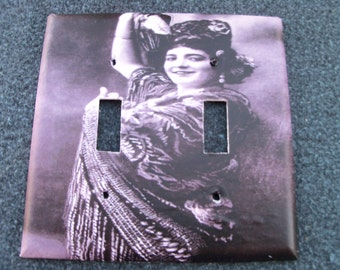 Gypsy Belly Dancer Double Switchplate Cover - Free Shipping - 1008BD