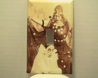 Gypsy and Clown Switchplate Cover - Free Shipping - 1007BD