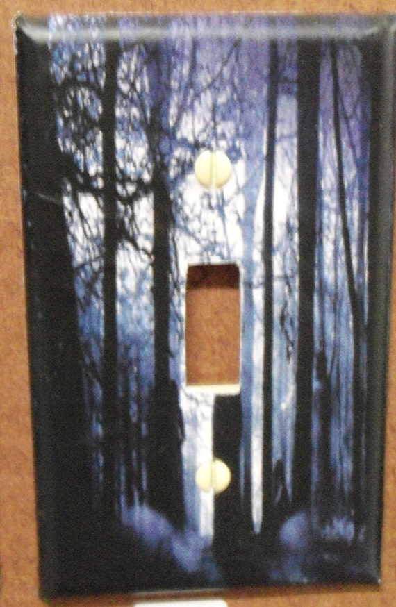 Forest single switch plate cover - free shipping - 1031PGW
