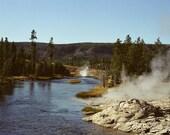 Firehole River -- Yellowstone, 5x7 photograph