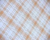 1.75 yards VTG fabric: Creamsicle plaid...