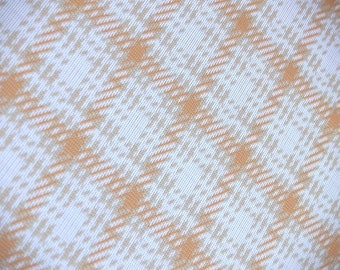 1.75 yards VTG fabric: Creamsicle plaid...