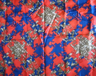 VTG fabric: Silky psychedelic plaid...