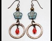 RESERVED FOR S. W. WONG Montana blue blossom earrings
