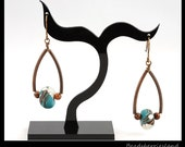RESERVED FOR S. W. WONG Autumn Collection - Branch earrings in Teal