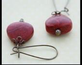 Coral Earrings in Red - ERB0005