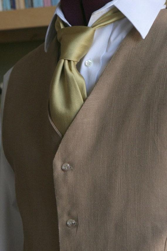 Latte Pure Linen Men Suit