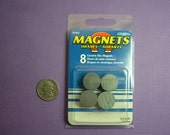 Magnet Blanks Ceramic Round Disc 3/4 Inch Diameter (Set of 8)