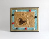 Vintage Abstract Wall Art - Mid Century, Framed, Science