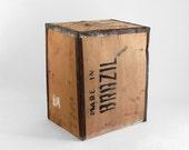 Large Vintage Brazil Crate