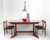 ON HOLD until April 05th - Vintage Teak Dining Table - Mid Century, Modern, Wood, Leaf Insert