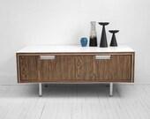 Mid Century Modern Wood Cabinet - Drawer, Storage, Office