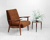 Mid Century Lounge Chair - Modern, Side, Wood, Retro, Danish