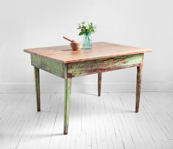 Items similar to Vintage Wood Farm Dining Table Mid  : il570xN317541310 from etsy.com size 570 x 492 jpeg 46kB