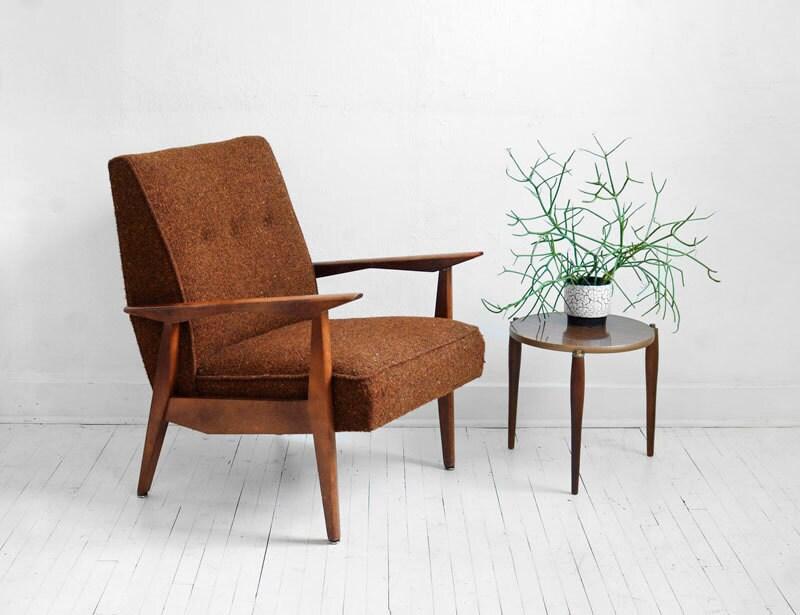 Items similar to Mid Century Lounge Chair Modern Side Wood Retro Danish