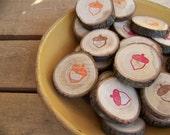 Rustic  Acorn Wood Tree Gift Tags