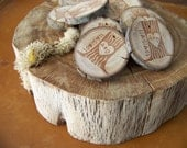 Rustic  Personalized Tree Stump  Wood Gift Tags