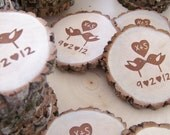 Rustic Wedding Favors  You Design The Stamp   100 Personalized Magnets