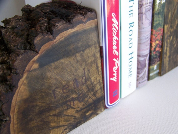 Natural Persimmons Tree Bookends   Read Me