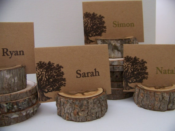 Rustic Wood Place Card Holders  Set of  50