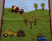 Baby Quilt Construction Vehicles