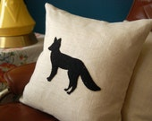 Reserved order for mfox3284 Hey There, Foxy 16x16 Fox Pillow w insert