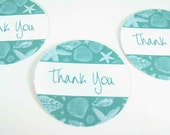 Thank You Stickers Envelope Seals - Sea Shells  SES111