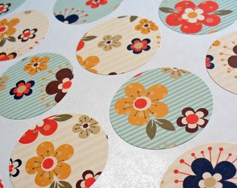 Envelope Seals or Stickers Flowers SES193
