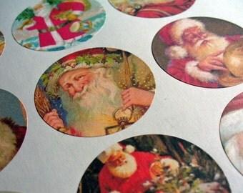 Santa Stickers Envelope Seals Journal Stickers Reminder Stickers Calendar Sticker Planner Stickers  SES131