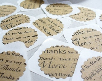 Envelope Seals or Stickers Thank You
