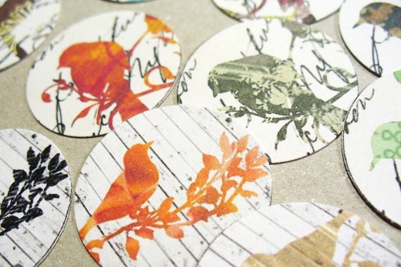 Envelope Seals or Stickers Kool Birds set of 30