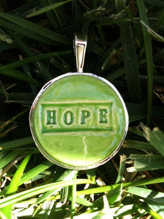 LIME HOPE PENDANT