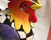 Rooster Pitcher\/Vase - Modern Shape
