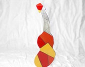 Red Orange and Yellow Guitar Sculpture
